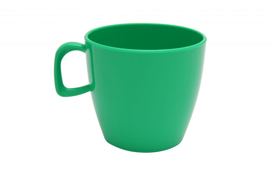 Cup with handle Emerald Green