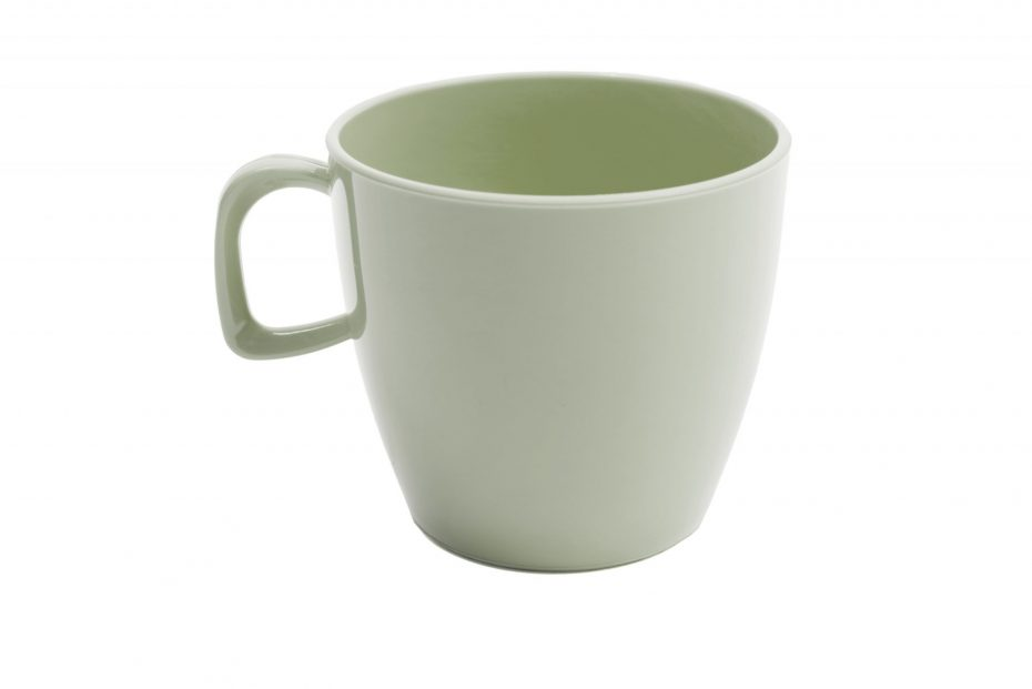 Cup with handle Grey Green