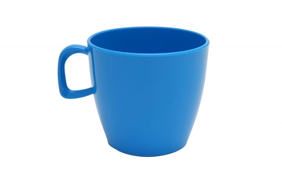 Cup with handle Blue