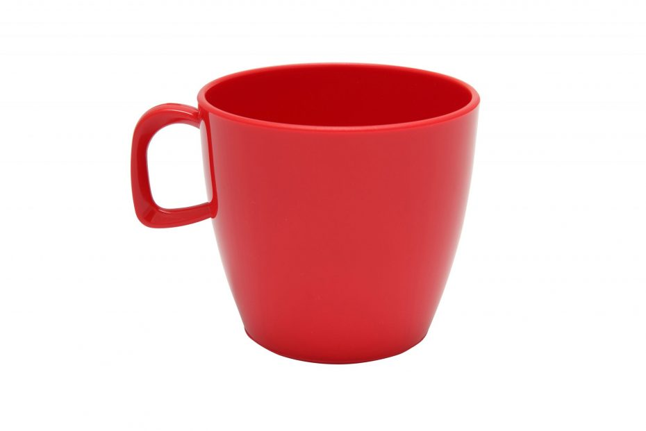 Cup with handle Red