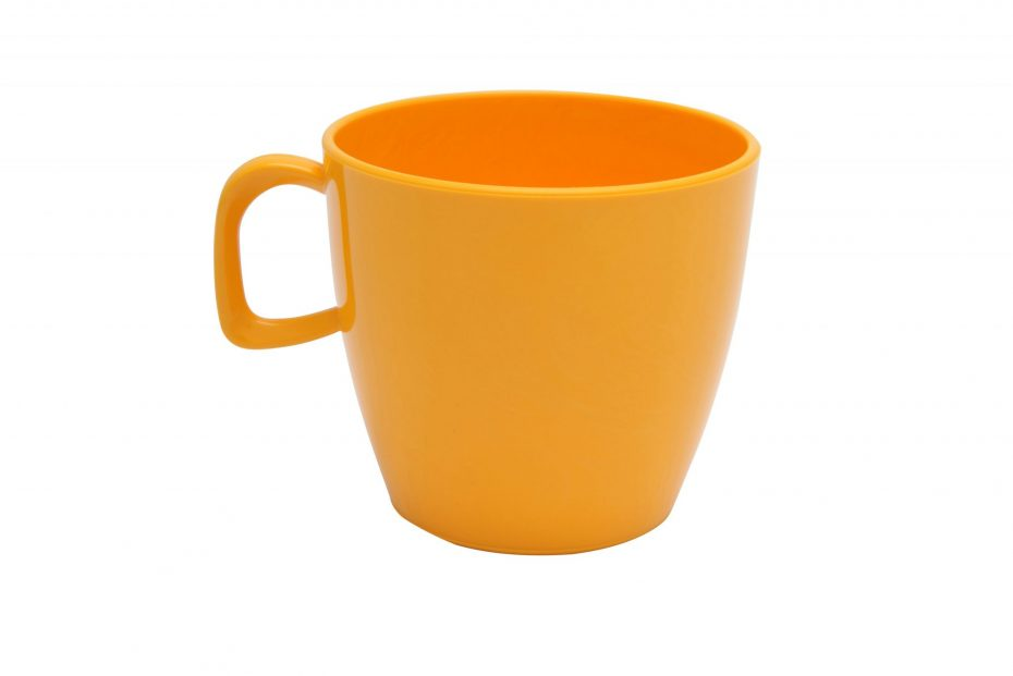 Cup with handle Yellow