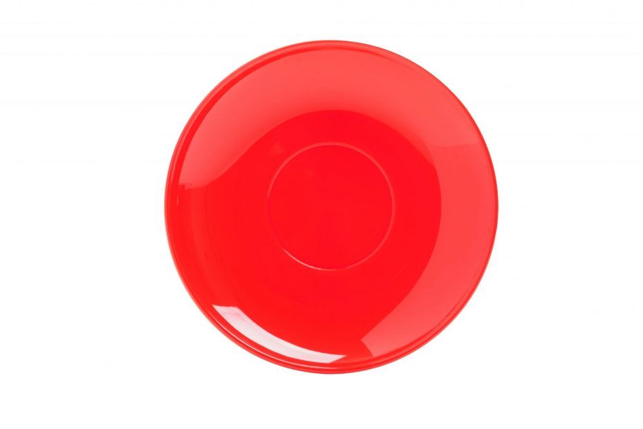 Cup Saucer Red