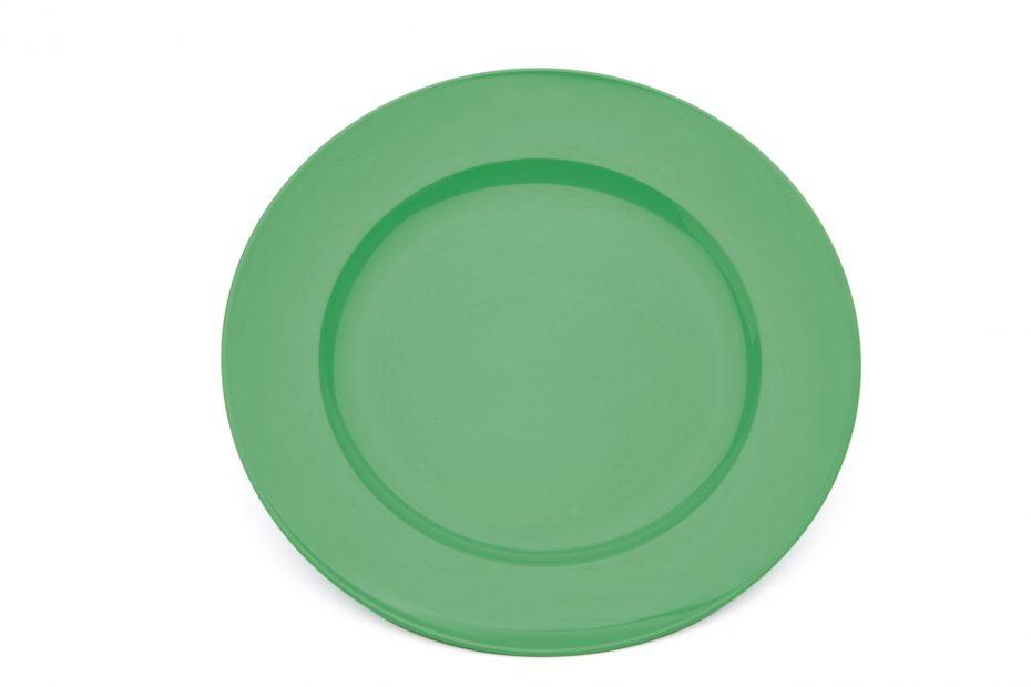 Emerald Green Wide Rimmed Dessert Plate