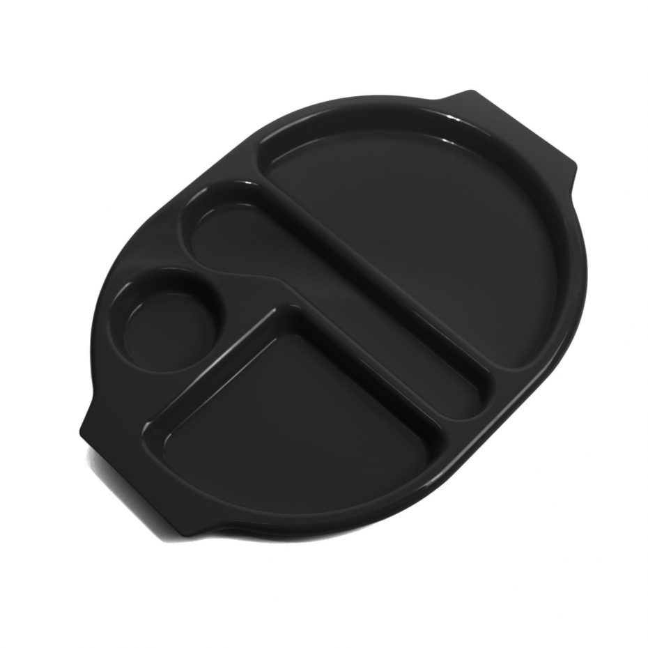 Large Black Meal Tray
