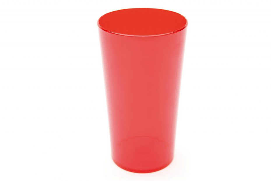 280ml Tall Tumbler in Translucent Red