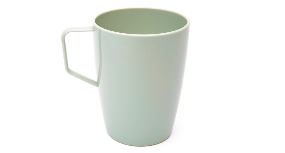 Antibacterial Beaker with Handle in Grey Green
