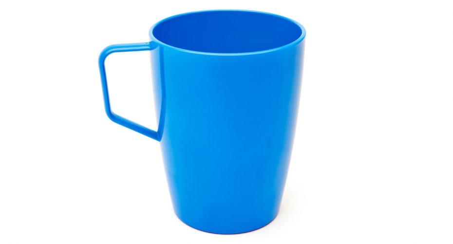 Antibacterial Beaker with Handle in Blue