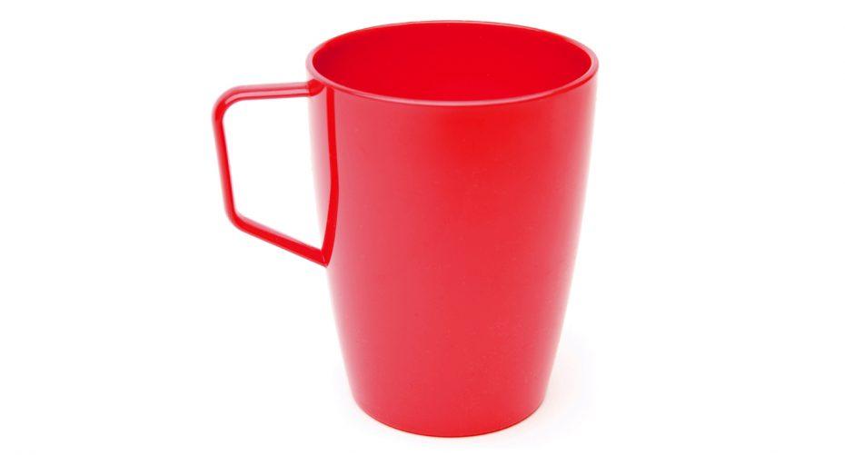 Antibacterial Beaker with Handle in Red