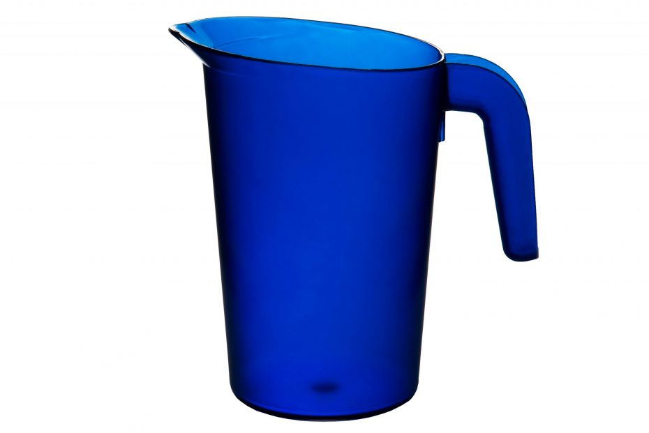 Blue 1L Frosted Translucent Jug
