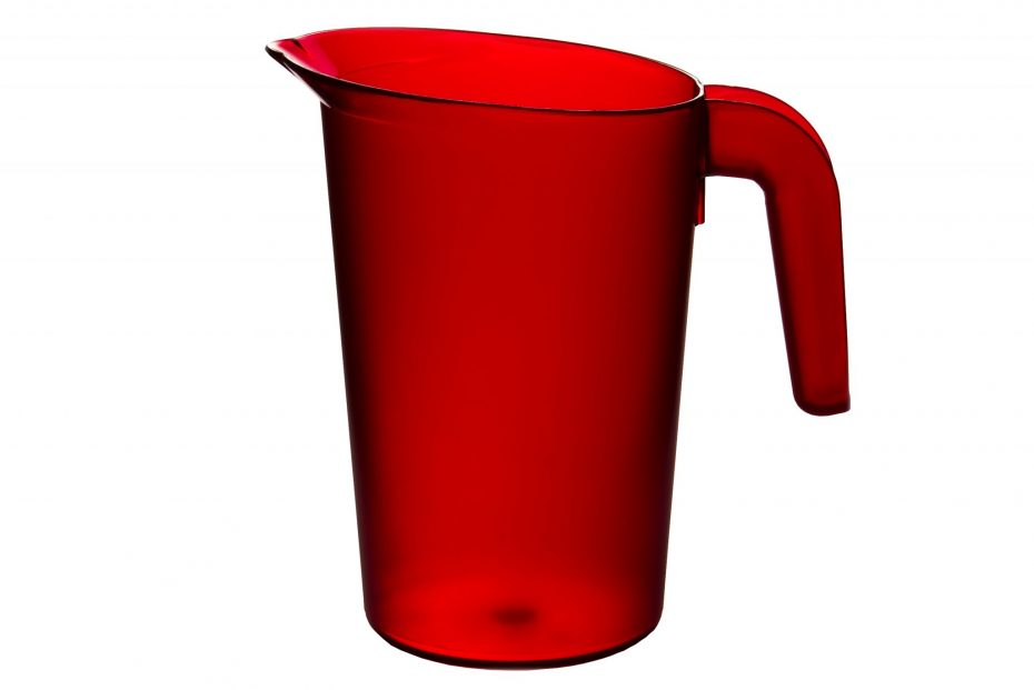Red 1L Frosted Translucent Jug