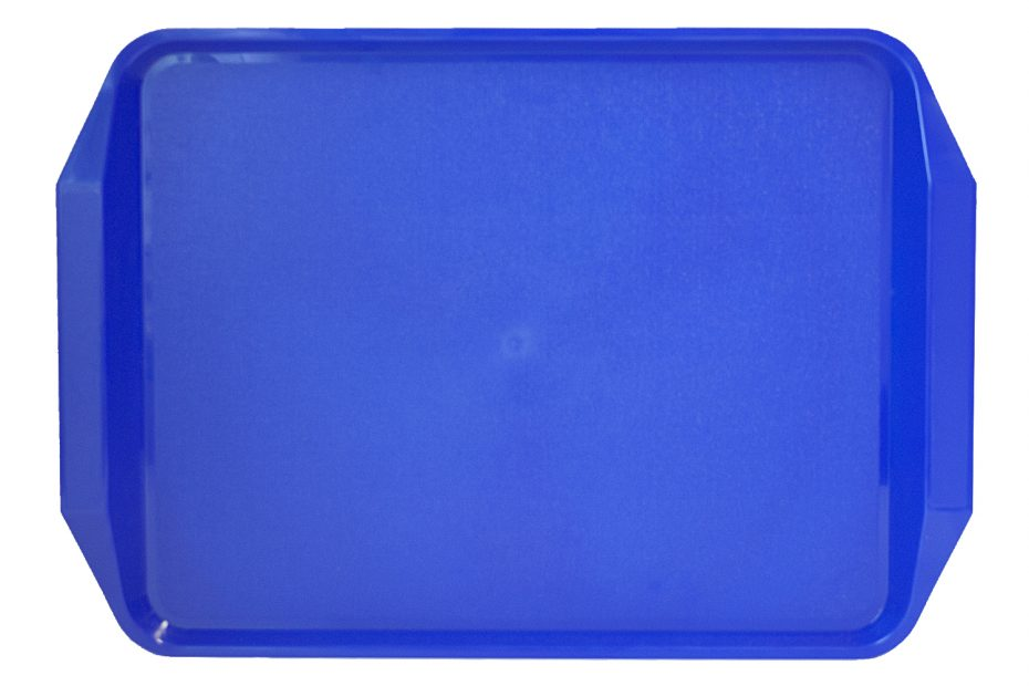 Blue ABS Tray with Handle