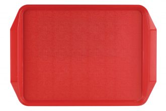 Red ABS Tray with Handle