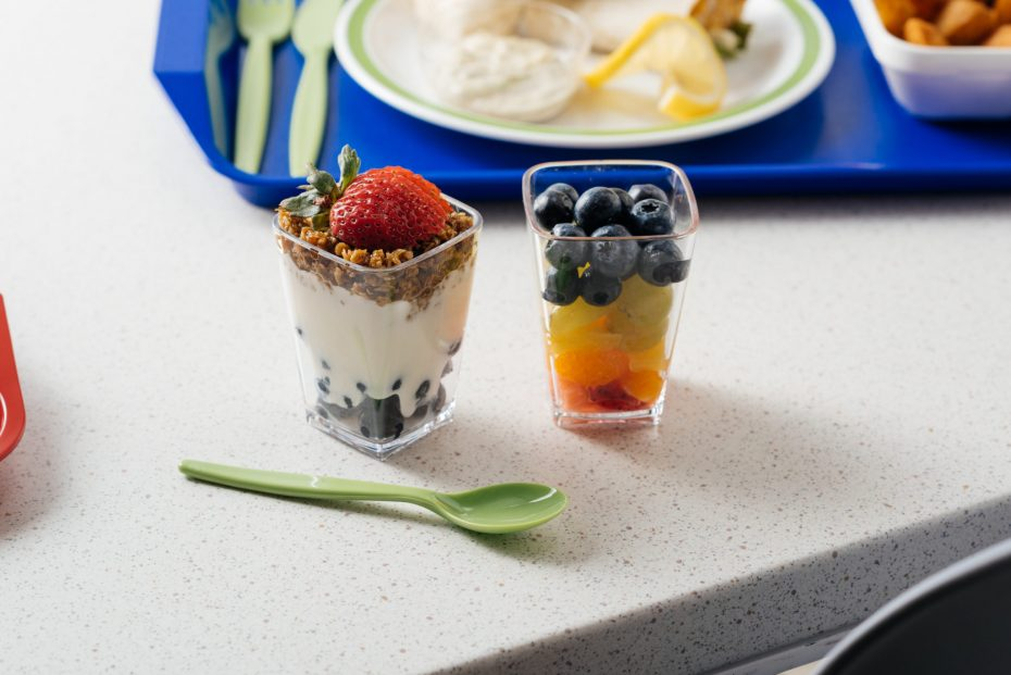 School Lunch Dessert Pots