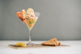 Prawn Cocktail in a Martini Glass