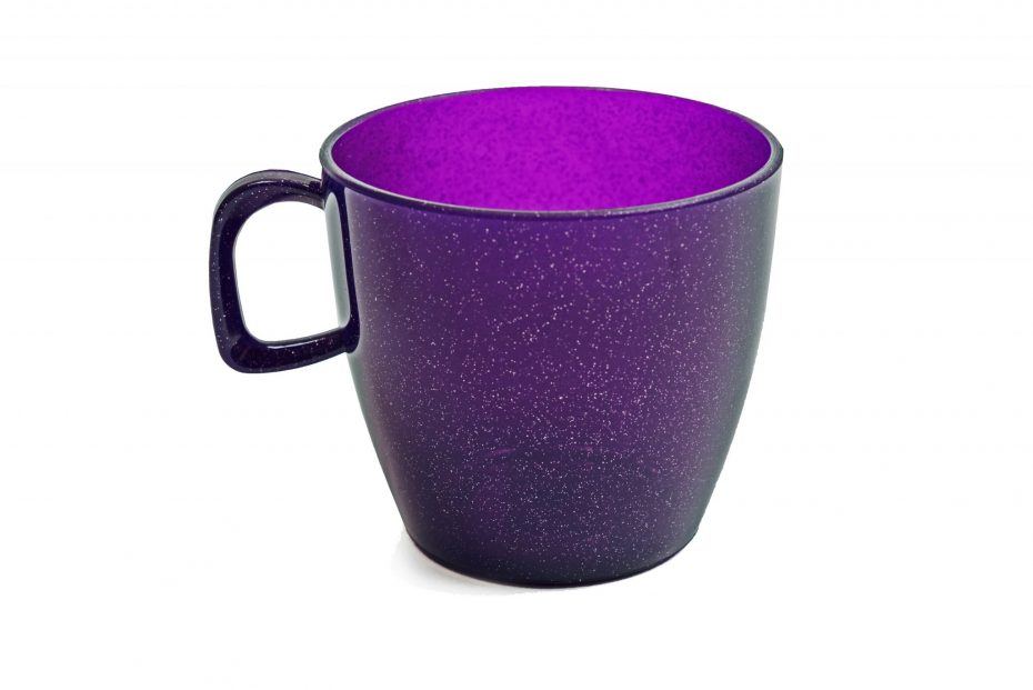 Cup with handle Purple Sparkle