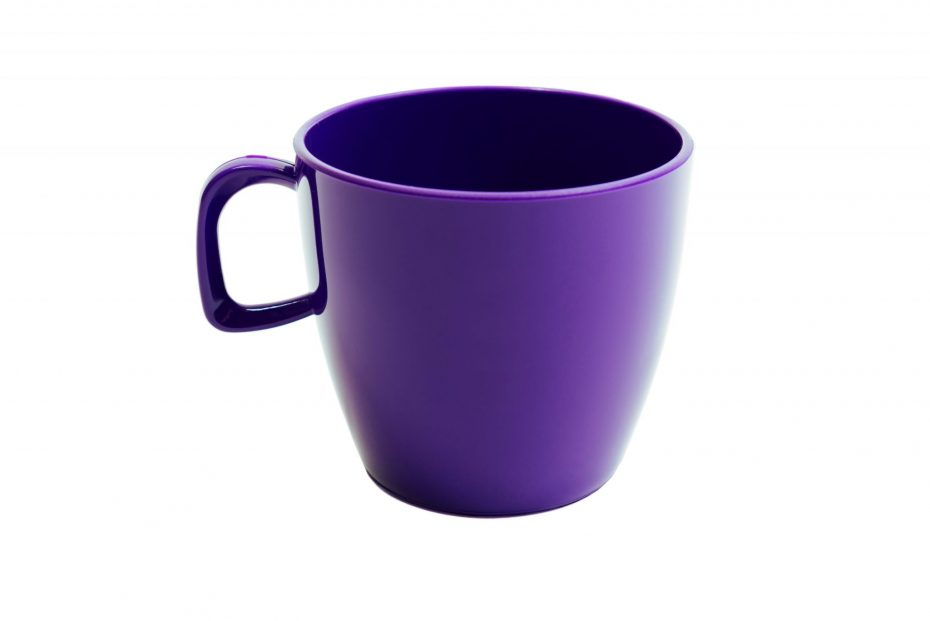 Cup with handle Purple