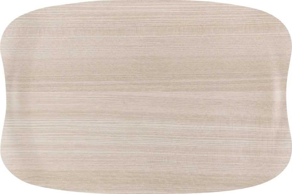 Light Wood Small Earth Wave Serving Tray