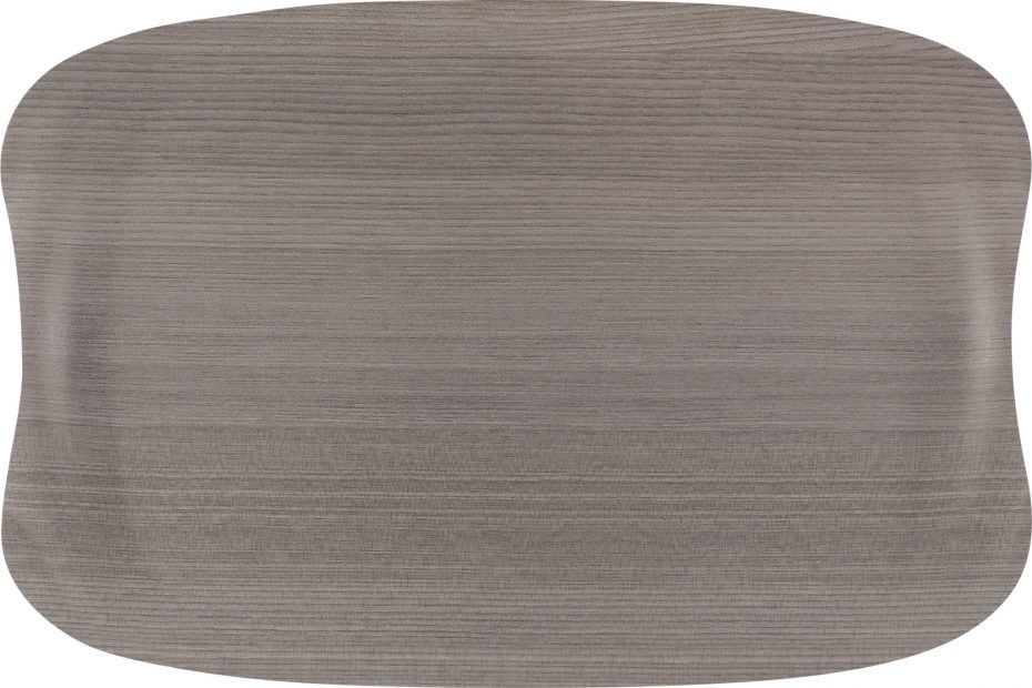 Grey Wood Small Earth Wave Serving Tray