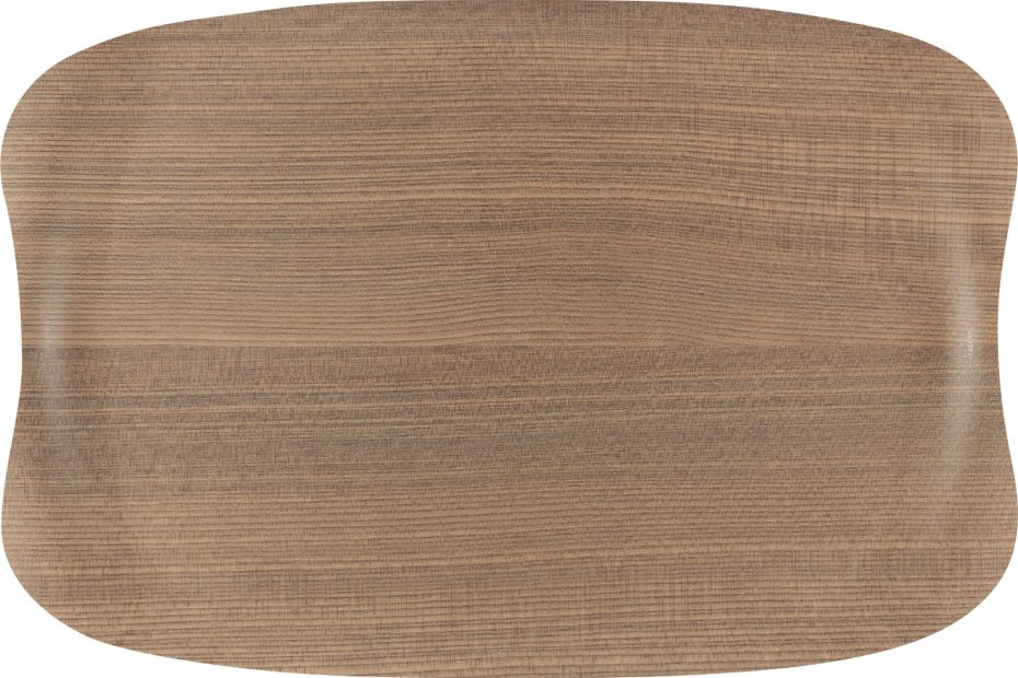 Warm Wood Small Earth Wave Serving Tray