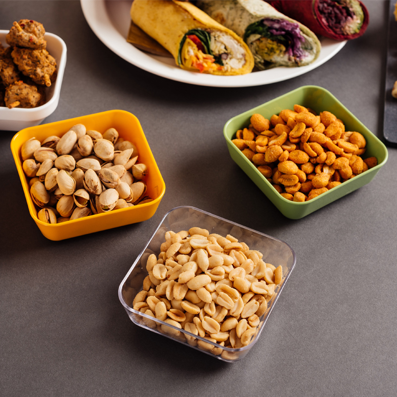 Savoury Snacks in Square Dishes