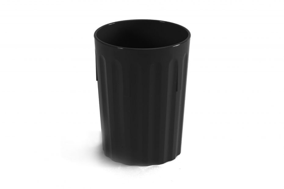 250ml Fluted Tumbler in Black