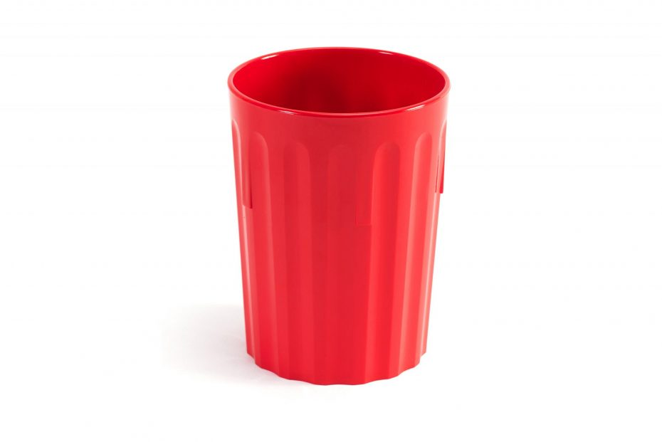 250ml Fluted Tumbler in Red