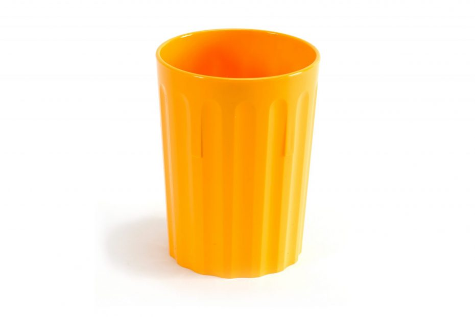 250ml Fluted Tumbler in Yellow