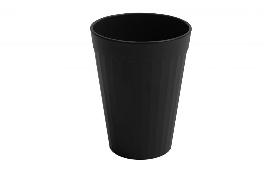 200ml Fluted Tumbler in Black
