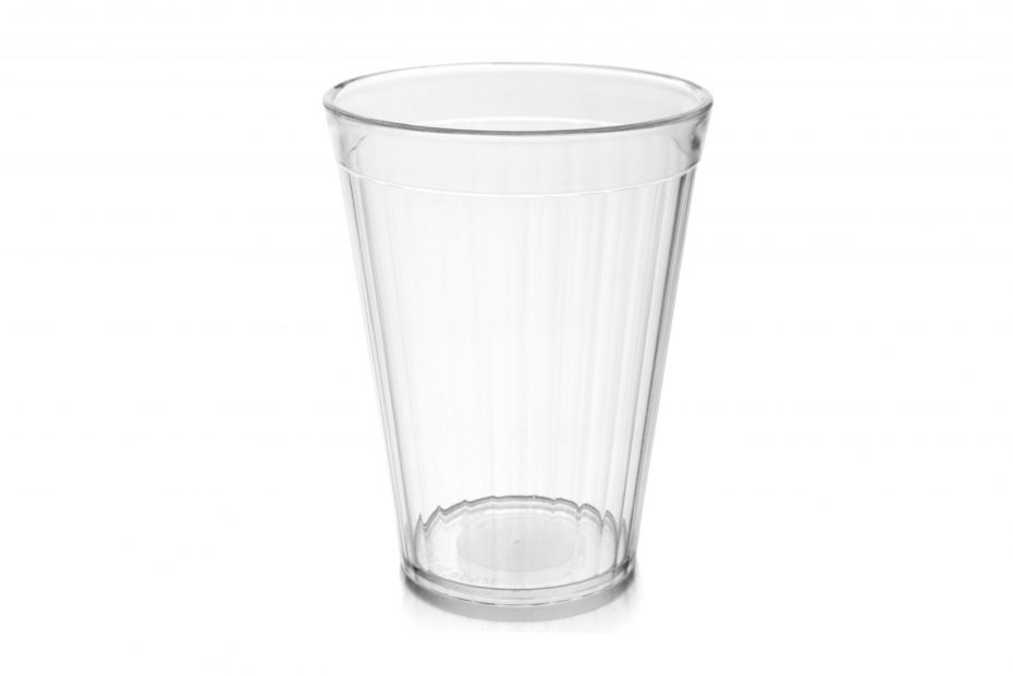 200ml Fluted Tumbler in Clear