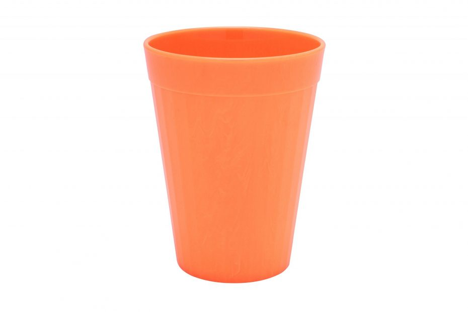 200ml Fluted Tumbler in Orange