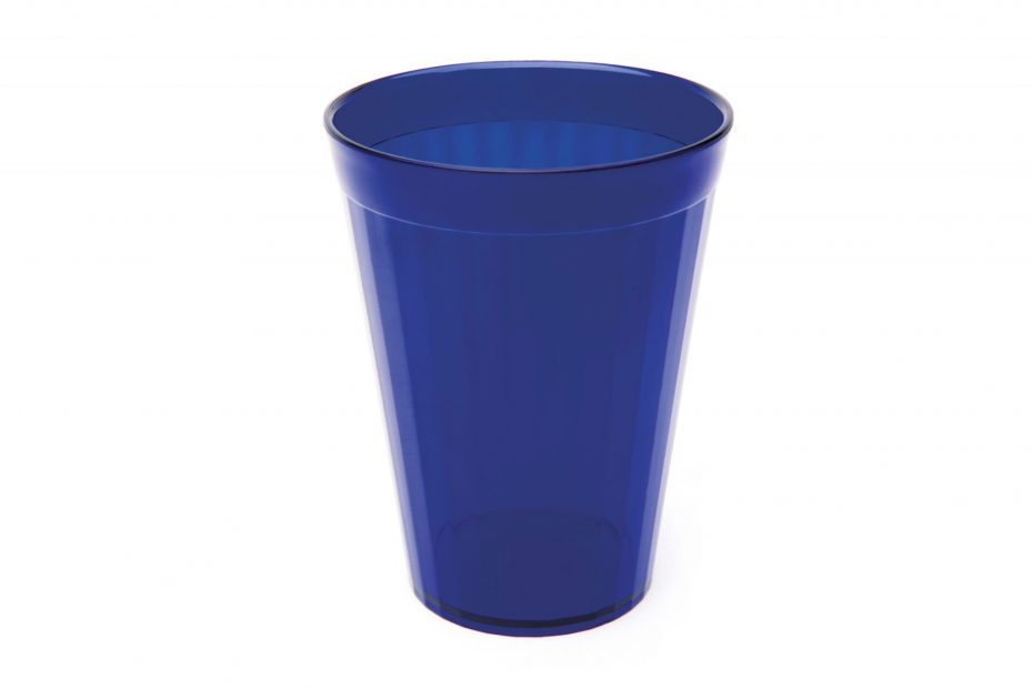 200ml Fluted Tumbler in Translucent Blue