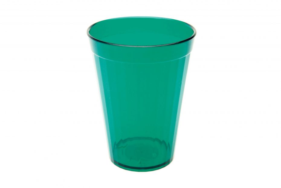 200ml Fluted Tumbler in Translucent Green