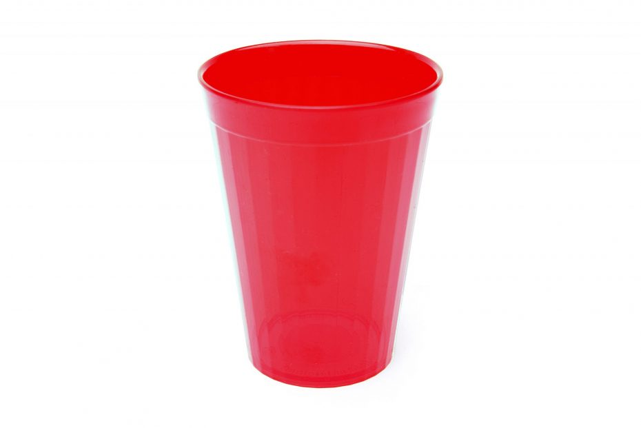 200ml Fluted Tumbler in Translucent Red