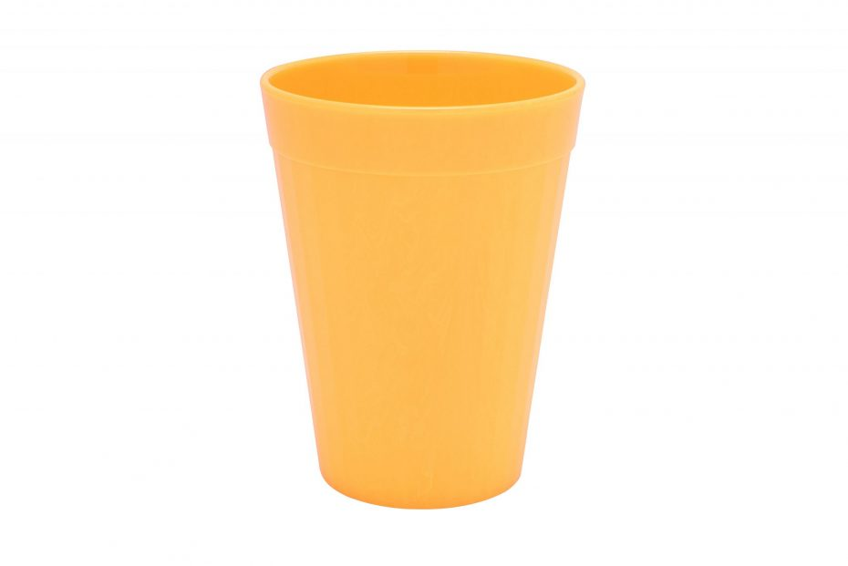 200ml Fluted Tumbler in Yellow