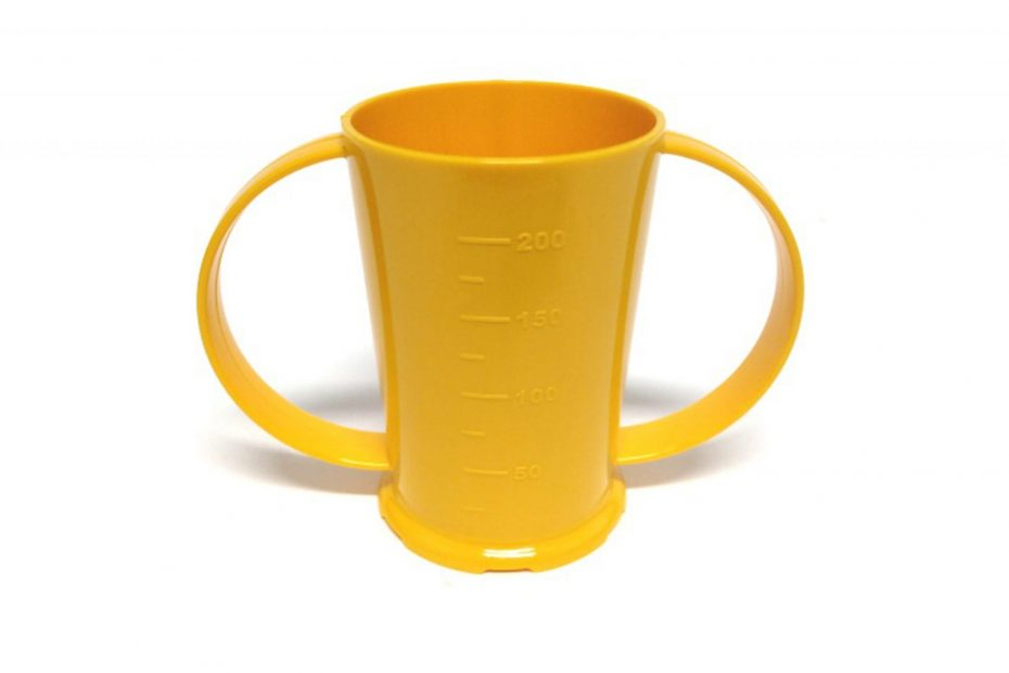 2 Handled Graduated Beaker in Yellow