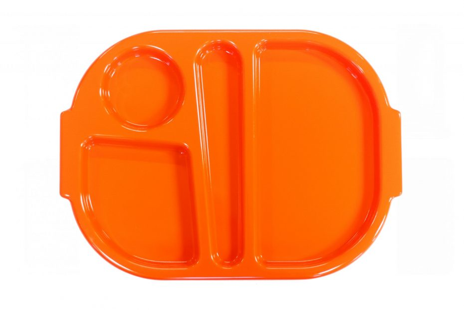 Orange Small Meal Tray