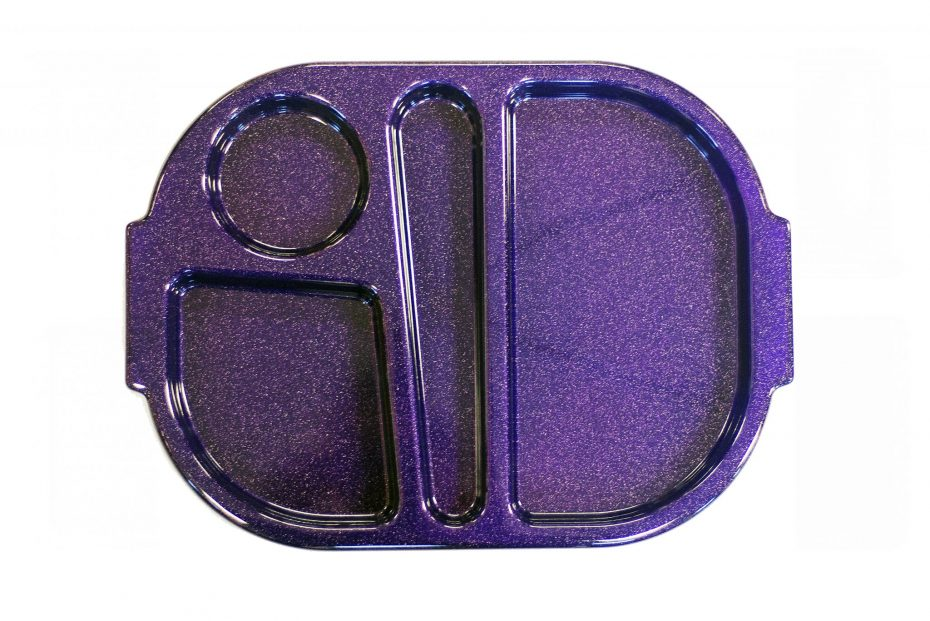Purple Sparkle Small Meal Tray