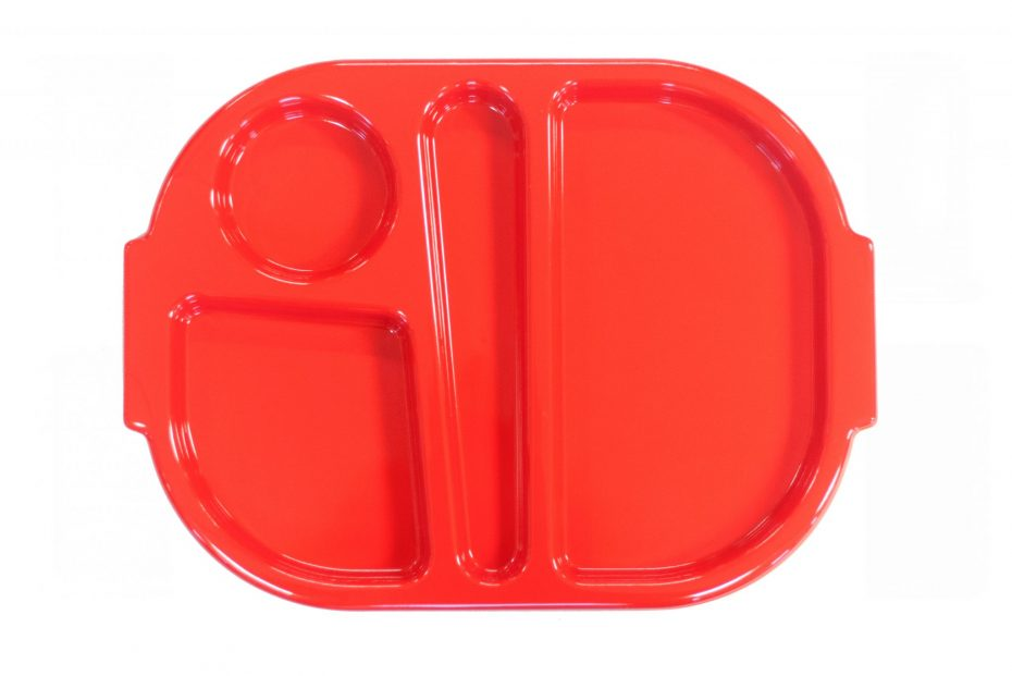 Red Small Meal Tray
