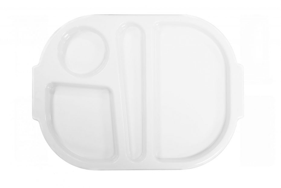 White Small Meal Tray