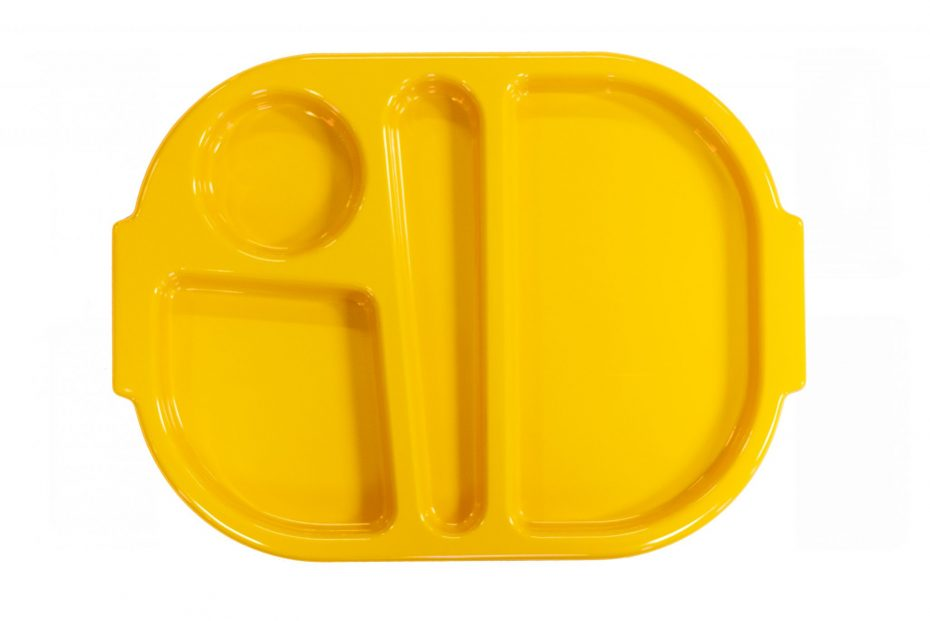 Yellow Small Meal Tray