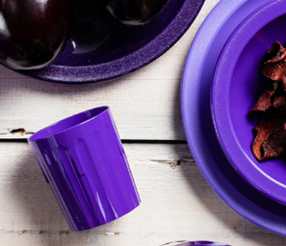 220ml Fluted Purple Tumbler