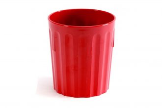 Red 220ml Fluted Tumbler