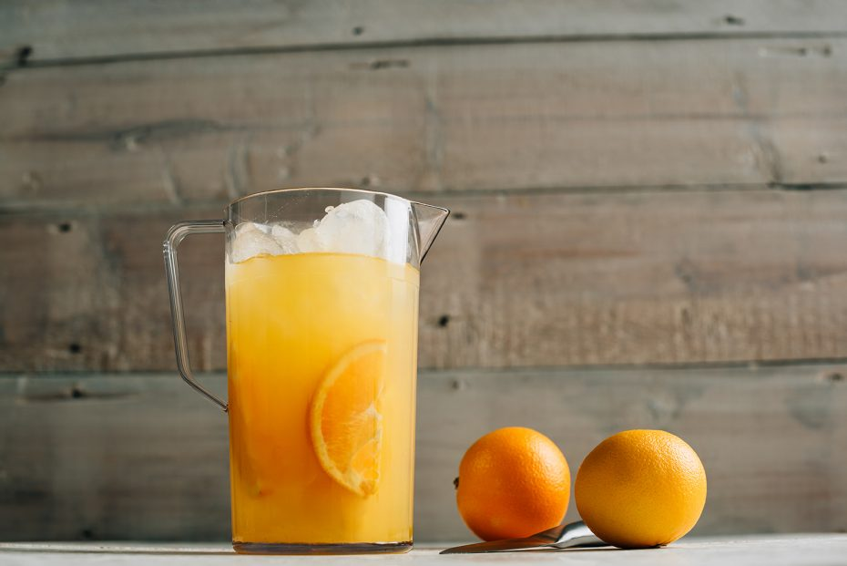 Orange Juice in a Clear Jug