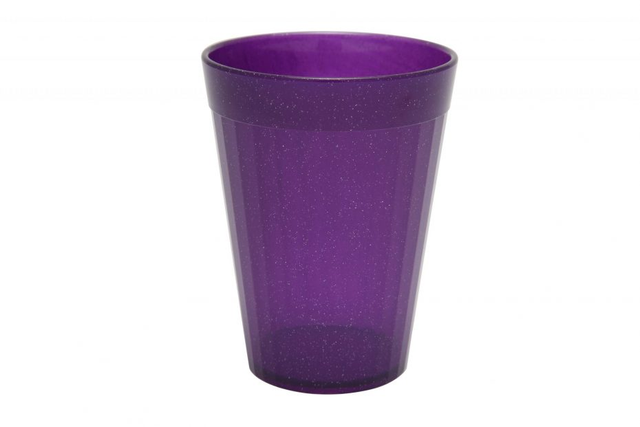 150ml Fluted Tumbler in Purple Sparkle