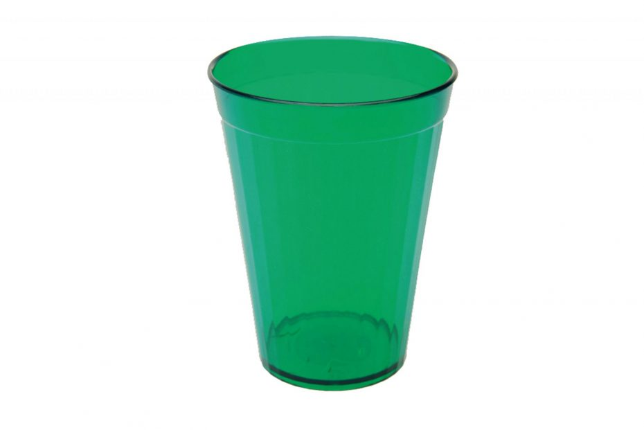 150ml Fluted Tumbler in Translucent Green