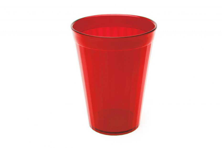 150ml Fluted Tumbler in Translucent Red