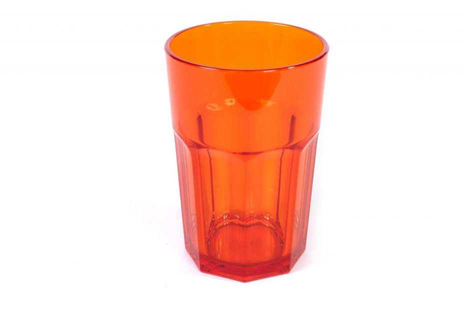 American Style Tumbler in Translucent Orange