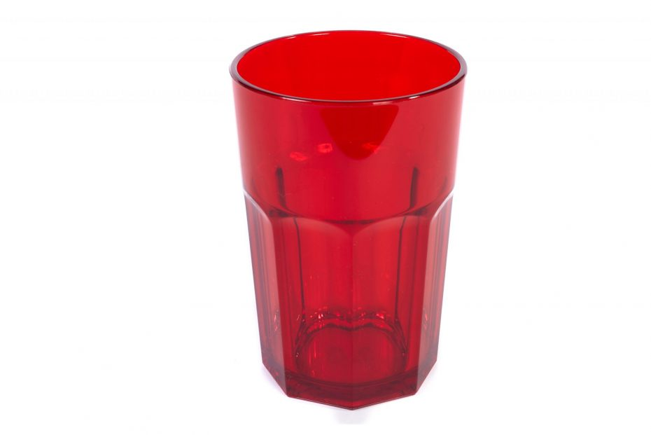 American Style Tumbler in Translucent Red