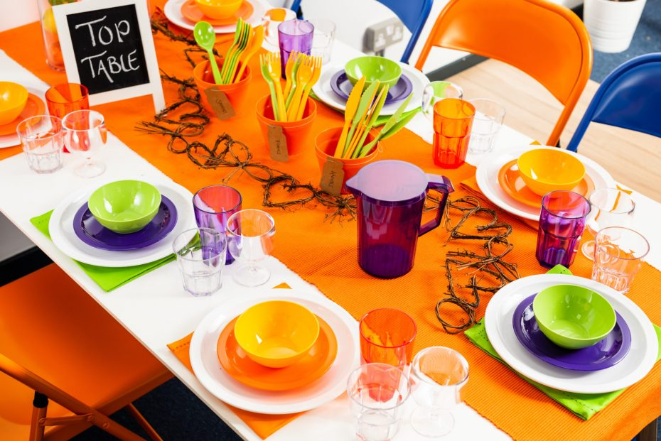 Colorful Top Table for School Pupils