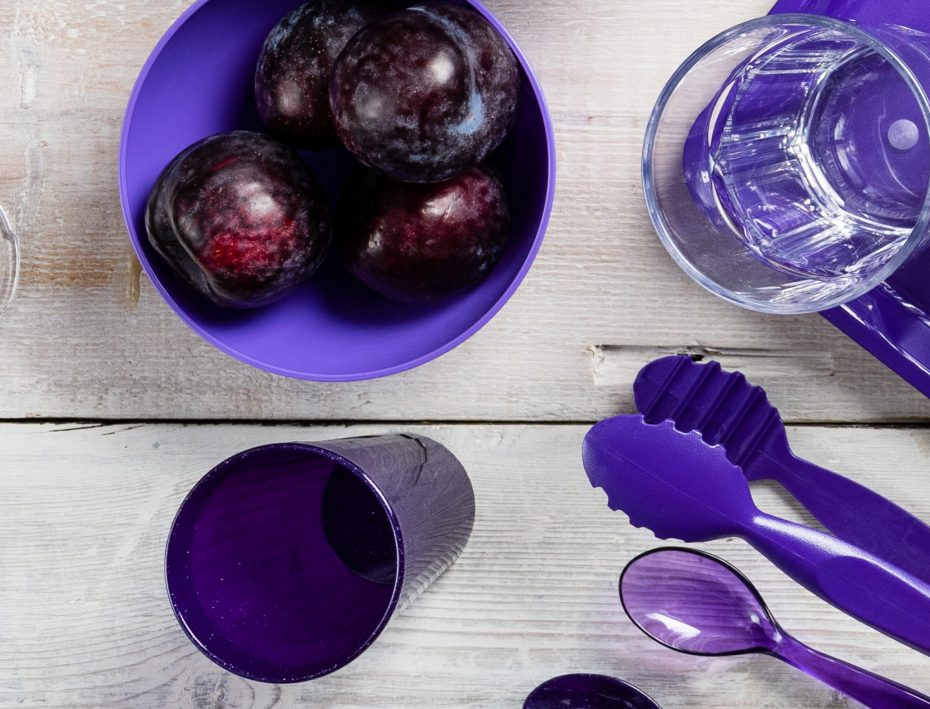 Purple Bowl with Plums